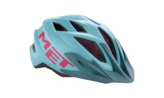 MET Youngsters Crackerjack Helm light blue/magenta